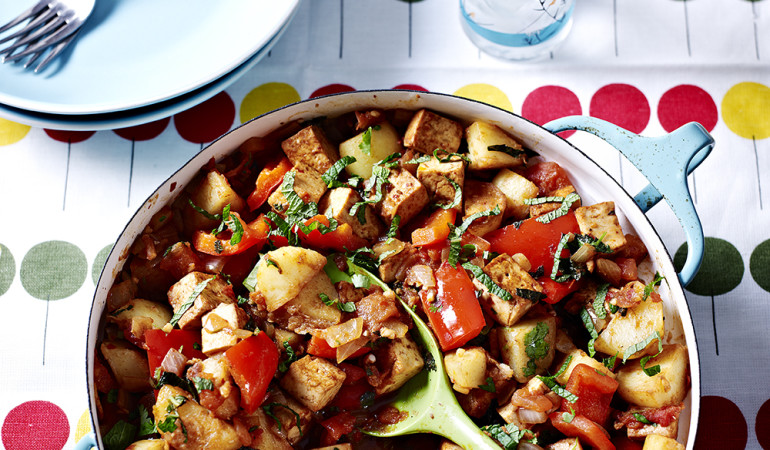 Vegetarian Recipe – Pepper and Tofu Saltado