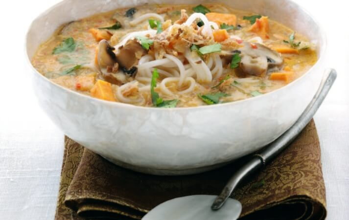 Coconut & Sweet Potato Noodle Soup