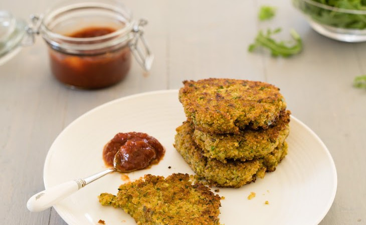 Quinoa, Courgette and Herb Cakes